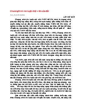 Chương trình rèn luyện Đội viên sửa đổi - Nguyễn Thị Hà