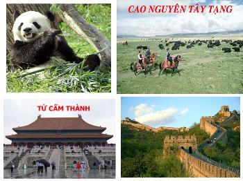 Bài giảng Địa lý 11 - Bài 10: Cộng hòa nhân dân Trung Hoa - Tiết 1: Tự nhiên, dân cư, xã hội