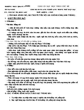 Giáo án dạy học theo chủ đề môn Ngữ văn 9 - Chủ đề: Hình ảnh người lính trong thơ hiện đại - Nguyễn Thị Bích Liên