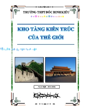 Giáo án Địa lý 11 - Bài 10: Cộng hòa nhân dân Trung Hoa (Trung Quốc) - Năm học 2015-2016 - Trường THPT Đốc Binh Kiều