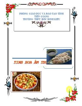 Thuyết trình về ẩm thực Trung Quốc - Nhóm 3 - Năm học 2015-2016 - Trường THPT Đốc Binh Kiều
