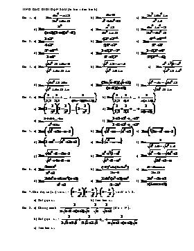Bài tập giới hạn dãy số Đại số 11