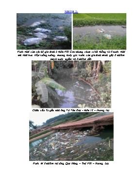 Bài thu hoạch môn Sinh học 9 - Nhóm 2: Tình trạng Ô nhiễm môi trường nước ở Hương Lạc