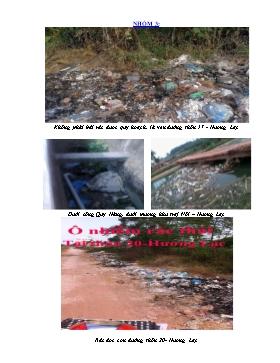 Bài thu hoạch môn Sinh học 9 - Nhóm 3: Ô nhiễm rác thải tại Hương Lạc