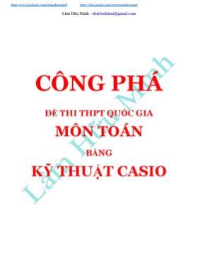 Công phá đề thi THPT Quốc gia môn Toán bằng Kỹ thuật Casio - Lâm Hữu Minh