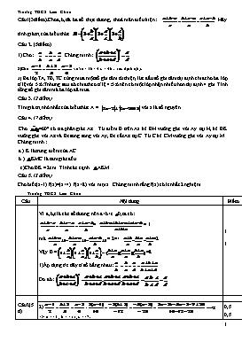 Đề thi Olymic môn Toán lớp 7 (Có đáp án)