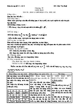 Giáo án Đại số 11 Kì II - Bùi Thị Nhuệ