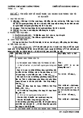 Giáo án Giáo dục hướng nghiệp 11 - Trần Xuân Linh