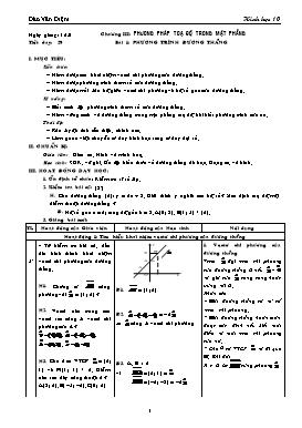 Giáo án Hình học 10 - Tiết 29-43 - Đào Văn Diệm