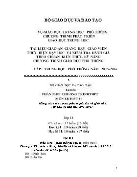 Giáo án Lịch sử 11 - Bài 1-3 - Năm học 2015-2016