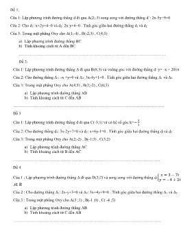 Ôn tập cuối năm Hình học 10