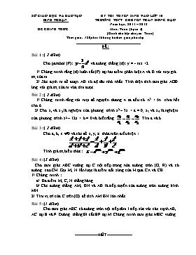 Đề thi tuyển sinh vào lớp 10 môn Toán - Năm học 2011-2012 - Trường THPT chuyên Trần Hưng Đạo