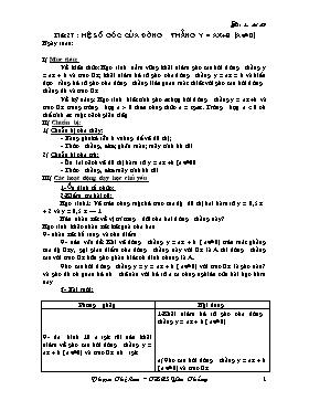 Giáo án Đại số 9 - Tuần 14 - Phạm Thị Lan
