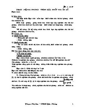 Giáo án Đại số 9 - Tuần 17 - Phạm Thị Lan