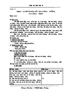 Giáo án Hình học 9 - Tuần 13 - Phạm Thị Lan