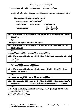Phương pháp giải toán Hình học 9 - Nguyễn Chí Thành