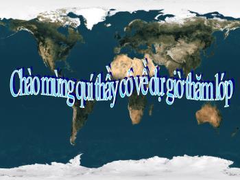 Bài giảng Địa lý 7 - Tiết 18, Bài 17: Ô nhiễm môi trường ở đới Ôn hòa - Cô Hằng