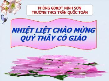 Bài giảng Ngữ văn 7 - Tiết 25: Văn bản Bánh trôi nước (Hồ Xuân Hương) - Cô Cúc (THCS Trần Quốc Toản)