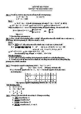 Một số bài toán ôn tập thi học sinh giỏi Toán 9