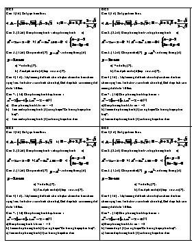 Đề kiểm tra 1 tiết Học kì 2 Đại số Lớp 9 (4 Đề)
