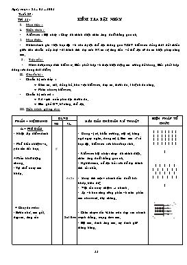 Giáo án Thể dục 7 - Tiết 53: Kiểm tra bật nhảy - Năm học 2007-2008