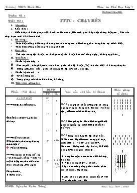 Giáo án Thể dục 7 - Tiết 62: Thể thao tự chọn, Chạy bền - Năm học 2007-2008 - Nguyễn Uyên Tùng