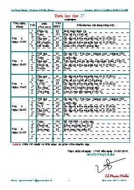 Giáo án Lớp 3 - Tuần 27 - Năm học 2013-2014 - Lê Phạm Chiến