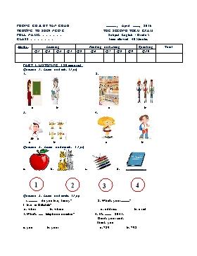 Đề thi Tiếng Anh Lớp 5 Học kì II - Năm học 2015-2016 - Trường Tiểu học Suối Ngô C