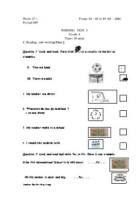 English Lesson Plan Grade 4 - Period 105 to 108 - School Year 2015-2016 - Bui Thi Thuy Trang