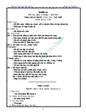 Giáo án Lớp 4 soạn theo VNEN - Tuần 28 - Năm học 2015-2016 - Ngô Thị Chanh
