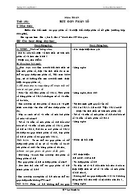 Kế hoạch bài học Lớp 4 - Tuần 21 - Năm học 2014-2015 - Lê Thanh Tú