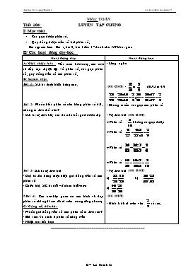Kế hoạch bài học Lớp 4 - Tuần 22 - Năm học 2014-2015 - Lê Thanh Tú
