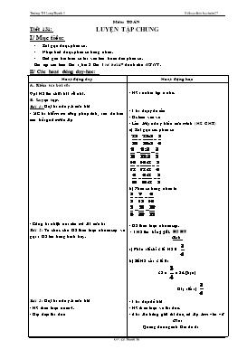 Kế hoạch bài học Lớp 4 - Tuần 27 - Năm học 2014-2015 - Lê Thanh Tú
