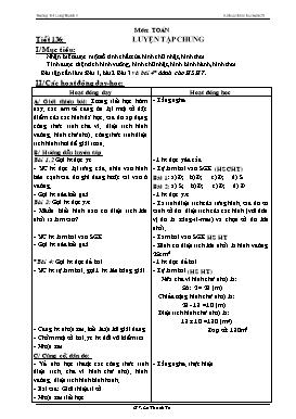 Kế hoạch bài học Lớp 4 - Tuần 28 - Năm học 2014-2015 - Lê Thanh Tú