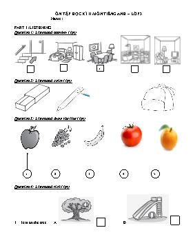 Ôn tập Học kì II môn Tiếng Anh Lớp 3